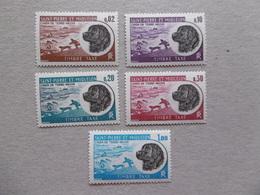 1973  S P M  TX 77/81  * *  CHIEN DE TERRE NEUVE/ CHIENS DE FRAINEAU - Timbres-taxe