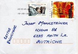 Auslands - Brief Von 17138 Saint-Xandre 03151A Mit 260 Cent Mischfrankatur Theatre Mogador + Josef Haller 2019 - 2018-... Marianne L'Engagée