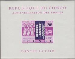 Congo Kin 1963 COB LX 480. Lutte Contre La Faim. Feuillet De Luxe - Tegen De Honger