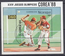 1988 SEOUL - Nicaragua - MiNr: 2860 Block 177   Used - Sommer 1988: Seoul