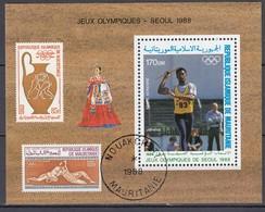 1988 SEOUL - Mauretanien - MiNr: 930 Block 70   Used - Sommer 1988: Seoul