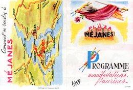 Programme Des Manifestations Taurines 1959 Plaza De Méjanes (13) - Programmes