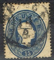 Sello 15 Kreuzer Azul, Imperio Astrohungaro 1861, Fechador No Legible,  Yvert Num 21 º - 1850-1918 Imperio