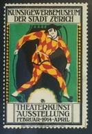 GERMANY 1914 Cinderella Vignette - Theaterkunst Austellung - Zurich - Cinderellas