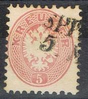 Sello 5 Kreuzer Rosa, Imperio Astrohungaro 1863, Fechador No Legible,  Yvert Num 29 º - 1850-1918 Imperio