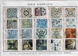 Lot De 20 Timbres Sur Les Azulejos Entre N°1506 Et 1650 - Oblitérés