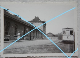 Photo POIX SAINT HUBERT Gare TRAM VICINAL Ligne Poix Freux Tramway Station Circa 1930 - Plaatsen
