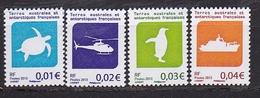 Timbre TAAF N° 677** à 680**  Tortue Verte - Groenland