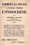 COMMENT LA FRANCE A PERDU INDOCHINE - Books