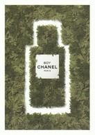 """Dans Les Champs De CHANEL """"BOY """"Grande Carte 17/12 Cm R/V - Perfume Cards"""