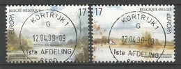 Belgien   1999  Mi.Nr. 2867 / 2868 , EUROPA CEPT - Natur- Und Nationalparks - Gestempelt / Fine Used / (o) - Europa-CEPT