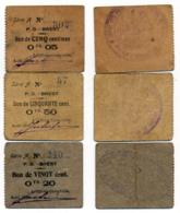 1914- 1918 // BREST // P.O.W. // Bon De Prisonnier De Guerre  // 5/20/50 Centimes - Bons & Nécessité