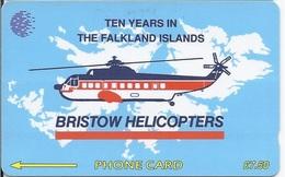 FALKLAND ISLANDS - BRISTOW HELICOPTERS - 35.000EX - 2CWFA - Falkland Islands