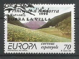Andorra Spanische Post 1999  Mi.Nr. 267 , EUROPA CEPT - Natur- Und Nationalparks - Gestempelt / Fine Used / (o) - Europa-CEPT
