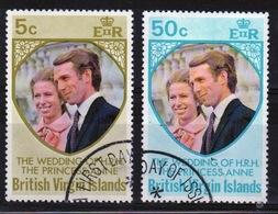 British Virgin Islands Set Of Stamps To Celebrate The Royal Wedding In 1973. - British Virgin Islands