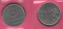 5 Cruzeiros 1980 FAO Brazil Brasile Coffe - Brazil