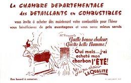 Buvard Chambre Départementale Des Détaillants En Combustible - Gas, Garage, Oil