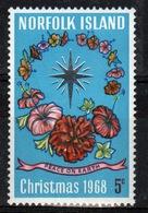 Norfolk Island Single Stamp To Celebrate Christmas 1968. - Norfolk Island