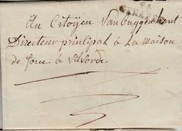 Lac Datée De Gosselies 212 Vendemiaire An Republicain Par Griffe 94/ GENAPPE -> Vilvorde ( H 11 Indice 19) - 1794-1814 (French Period)