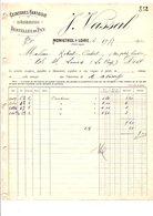 1910 FACTURE J. VASSAL CEINTURES FANTAISIES à MONISTROL SUR LOIRE HAUTE LOIRE - France