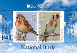 GUERNSEY -  2019 - EUROPA CEPT - National Birds -    Souvenir Sheet  With  2 EUROPA  Stamps  MNH ** - 2019