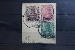 Danzig 1-3 Gestempelt Geprüft Infla Berlin #SU577 - Danzig