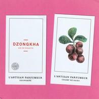 L' ARTISAN PARFUMEUR  2 Cartes - Perfume Cards