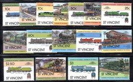 CI1152 - ST. VINCENT , SERIE N. 698/713  ***  TRENI - St.Vincent (1979-...)