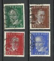 Estland Estonia 1938 Michel 138 - 141 O - Estonia