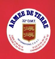 1 Autocollant ARMEE DE TERRE 32e D.M.T. - Autocollants