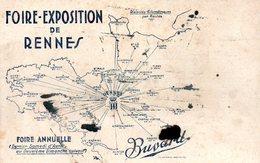 Buvard Foire Exposition De Rennes (35) - Buvards, Protège-cahiers Illustrés