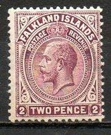 AMERIQUE DU NORD - FALKLAND - (Colonie Britannique) - 1912-14 - N° 28 - 2 P. Brun-lilas - (George V) - Falkland Islands