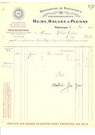 1910 FACTURE REMY, BAULEY & PLENAT MANUFACTURE DE BONNETERIE à TROYES - France