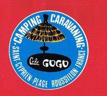 1 Autocollant CAMPING CARAVANING SAINT CYPRIEN PLAGE ROUSSILLON - Autocollants
