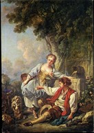 CPM - Musée Des Beaux-Arts à Nîmes (30) - L'éducation D'un Chien Par François Boucher - Musées