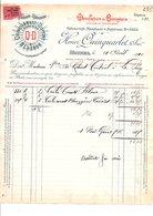 1910 FACTURE HENRI QUINQUARLET MANUFACTURE DE BONNETERIE à TROYES - France