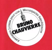 1 Autocollant Municipalité Lilloise LILLE BRUNO CHAUVIERRE (  Couleur Réel Vert Fluo ) - Autocollants