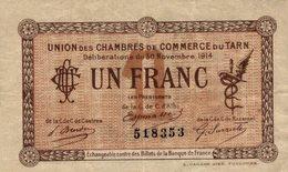 6979-2019    BILLET CHAMBRE DE COMMERCE DU TARN - Chambre De Commerce