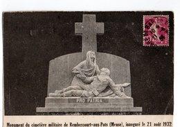 55 * REMBERCOURT AUX POTS * MONUMENT DU CIMETIERE MILITAIRE * 21 Aout 1932 - Otros Municipios
