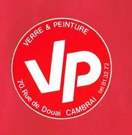 1 Autocollant VERRE & PEINTURE 70 Rue De Douai CAMBRAI - Autocollants