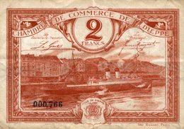 6981-2019    BILLET CHAMBRE DE COMMERCE DE DIEPPE - Chambre De Commerce