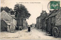COSNE - La Rue Principâle - Cachet Perlé   (113872) - France