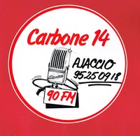 1 Autocollant CARBONNE 14 AJACCIO RADIO FM - Autocollants