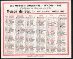 Calendriers > Petit Format : 1991-00 Calendrier 1956 Moulins Maison Du Bas 73 Rue D Allier - Petit Format : 1991-00