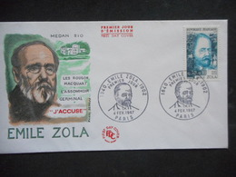 "ENVELOPPE PREMIER JOUR ""EMILE ZOLA""  - 1967 - 1960-1969"