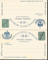 """J) 1899 MEXICO, SPECIMEN, LETTER CARRIER WITH OVERPRINT IN BLACK """"MUESTRA"""", MEXICAN POSTAL SERVICE, EAGLE, URBAN SERVICE - Mexico"""