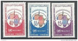 "Tunisie YT 605 à 607 "" Conférence Cartographique "" 1966 Neuf** - Tunisie (1956-...)"