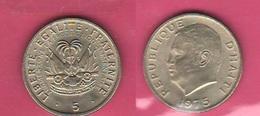 5 Centimes 1975 Fao Duvalier - Haiti