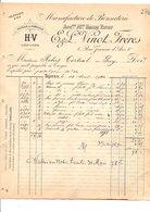 1910 FACTURE VINOT Fréres BONNETERIE à TROYES AUBE - France
