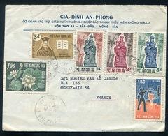 VIÊT-NAM : Cover ( Enveloppe) 56 Stamps Franked  & Mailed From VUNGTAU  To Ochey Air - Airoplane Base. Aérienne. Vietnam - Viêt-Nam